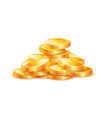 pile of golden coins isolated vector image vector image