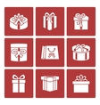 Present boxes icons set for online delivery vector image vector image