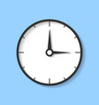 realistic clock countdown icon in flat style time vector image