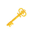 retro golden old key vector image