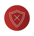 security flat linear long shadow icon vector image