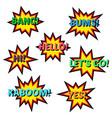 set of cartoon comic balloon speach bubbles vector image vector image