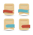 Set of retro banners and ribbons of different vector image vector image