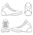 set with wrestlin shoes vector image