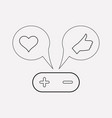 shares with like icon line element vector image