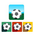 Soccer Ball Icon Set vector image vector image