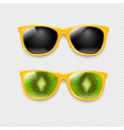 summer sunglasses set isolated transparent vector image vector image