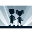 Superkids Silhouettes vector image vector image