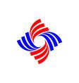 swoosh star shape logo template design eps 10 vector image vector image