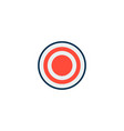 target icon flat element of vector image