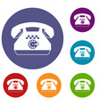 taxi phone icons set vector image vector image