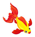 top view goldfish icon cartoon style vector image