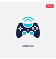 two color gameplay icon from blogger and vector image vector image