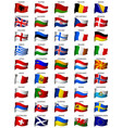 Wavy european flags set vector | Price: 1 Credit (USD $1)