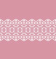 white lace border vector image vector image