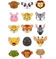 Wild animal head cartoon vector image vector image