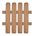 Wooden fence icon cartoon style vector image vector image