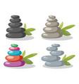 zen rock stones stack in balance vector image