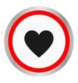 Heart Icon Round icon flat design vector image