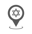 synagogue map pointer icon simple vector image