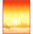City in the desert an old poster vector image