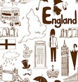 Sketch England seamless pattern vector image