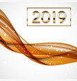 2019 abstract new year on vector image vector image