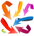 3D Colorful Arrows Set Isolated on White vector image vector image