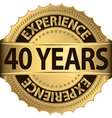 40 years experience golden label with ribbon