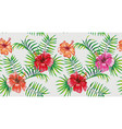 4k wallpaper tropical style seamless vector image vector image