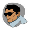 a man in a comic style vector image