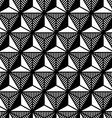 abstract black and white triangle geometric vector image vector image