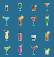 alcoholic cocktails drinks fruit cold vector image vector image