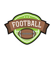 american football emblem badge vector image vector image