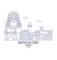 bangalore city skyline vector image