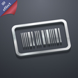 Barcode icon symbol 3D style Trendy modern design vector image
