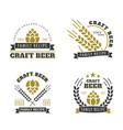 beer set of emblems vector image vector image