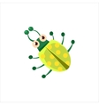 Beetle From Above Icon vector image vector image