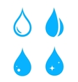blue isolated droplet set vector image vector image