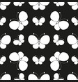 butterflies silhouettes pattern vector image
