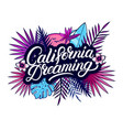 california dreaming hand written lettering text vector image vector image