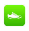canvas sneaker icon digital green vector image