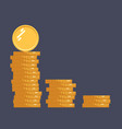 coins icon stack of coins vector image vector image