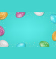 colorful easter eggs composition easter sale vector image