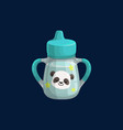 cup bottle basipper reservoir isolated icon vector image vector image