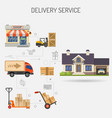 delivery service banner vector image