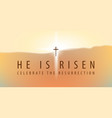 easter banner with a shining cross and inscription vector image vector image