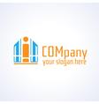 Education information or building company logo vector image vector image