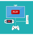 Flat design computer games concept Game vector image