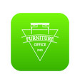 furniture icon green vector image vector image
